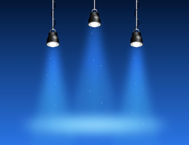 Spot lights background theme