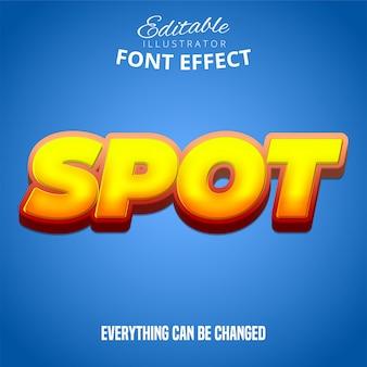 스팟 텍스트, 편집 가능한 글꼴 효과