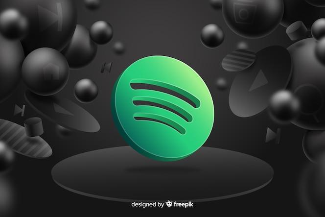 Spotifyロゴと抽象的な背景