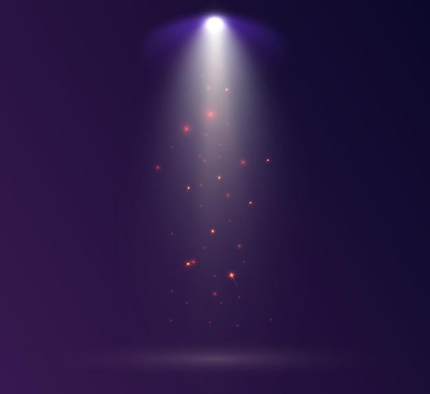 スポットライト。輝く光の効果。