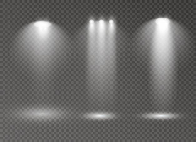 スポットライト白熱灯効果は透明な背景に分離されました。