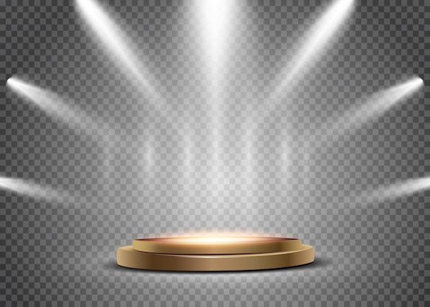 Spotlight isolated on transparent background