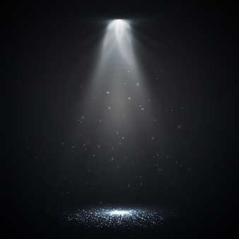 Spotlight isolated. vector glowing light effect with rays