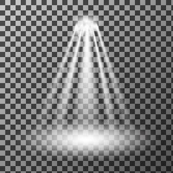スポットライト。光の効果