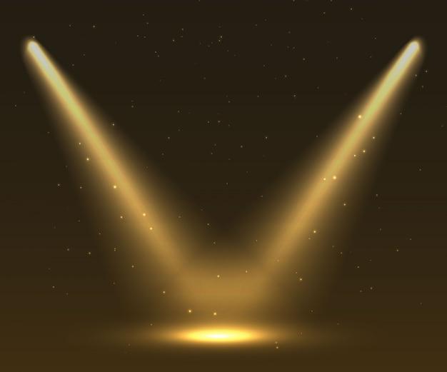暗い舞台背景にスポットライト