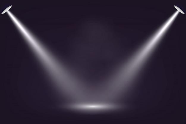 어두운 무대 배경에 스포트라이트