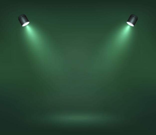 Вектор spotlight на сцене иллюстрация