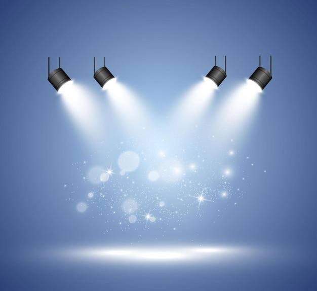 Прожекторы на прозрачном