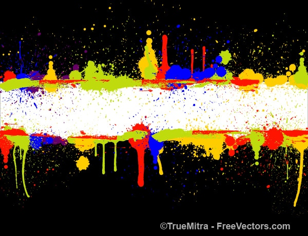 Spots of colour paints banner
