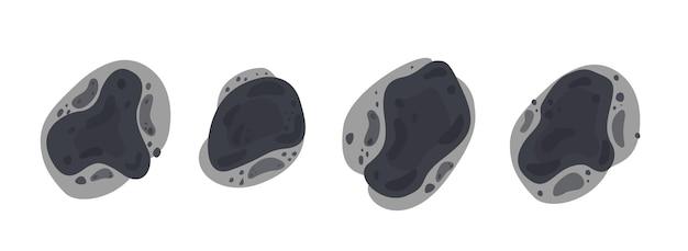 다른 모양의 검은 곰팡이 또는 곰팡이의 반점 독성 곰팡이 얼룩 점액 증 발병 세트