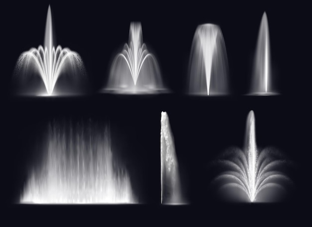 Spouting fountains jets or water geysers
