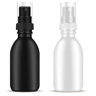 Spray bottle. cosmetic aerosol package. plastic