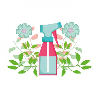 Spray bottle with floral decoration