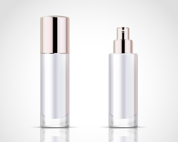 Spray bottles set, pearl white cosmetic container