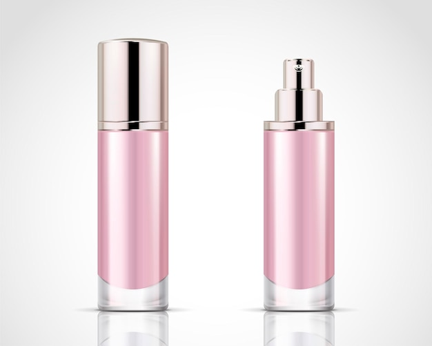 Spray bottles set, pink cosmetic container