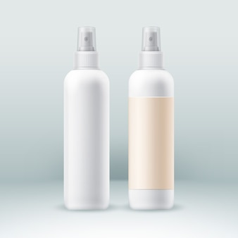 Spray bottles for some perfume cosmetic.