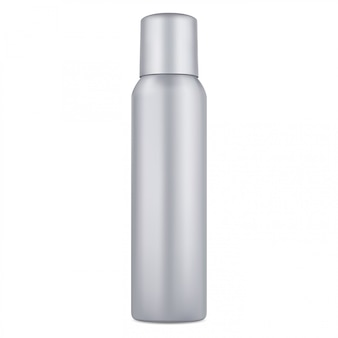 Spray can. aluminum deodorant aerosol bottle blank