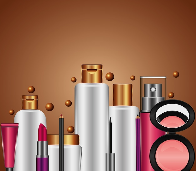 Spray cream tube cosmetic makeup products