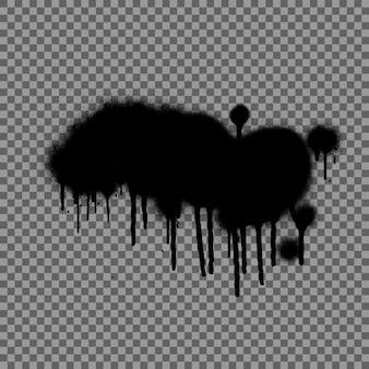 Спрей граффити. черные брызги