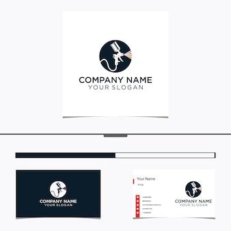 Распылитель живопись логотип и визитная карточка