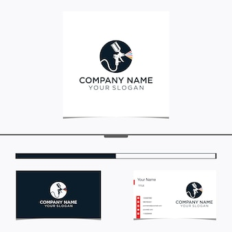 Spray gun painting logo and business card