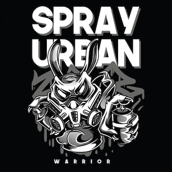 Spray urban black and white illustration