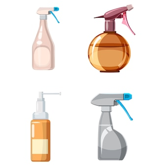 Sprayer elements set. cartoon set of sprayer