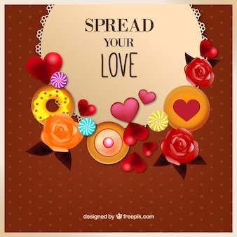 Spread your love background
