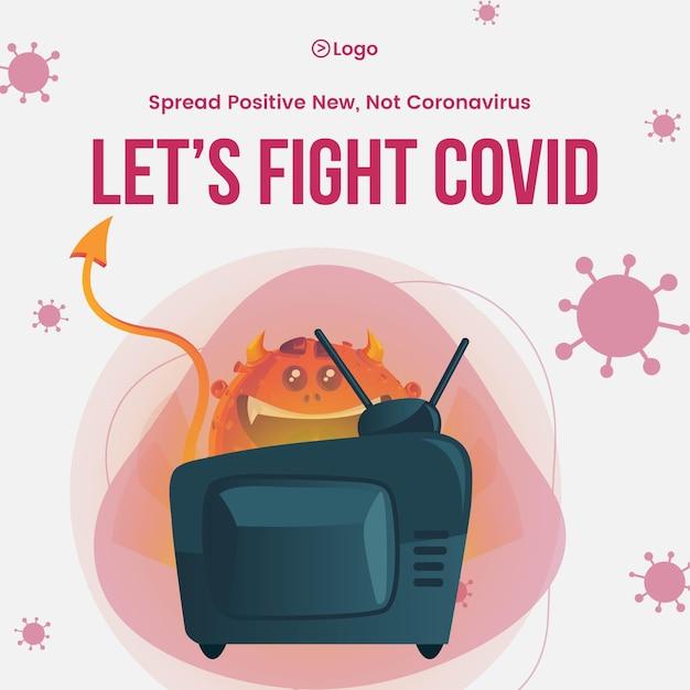 Covid19の外出禁止令バナーデザインテンプレートによる自己保護の意識の普及