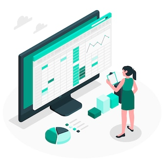 Spreadsheets concept illustration