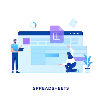 Spreadsheets concept.