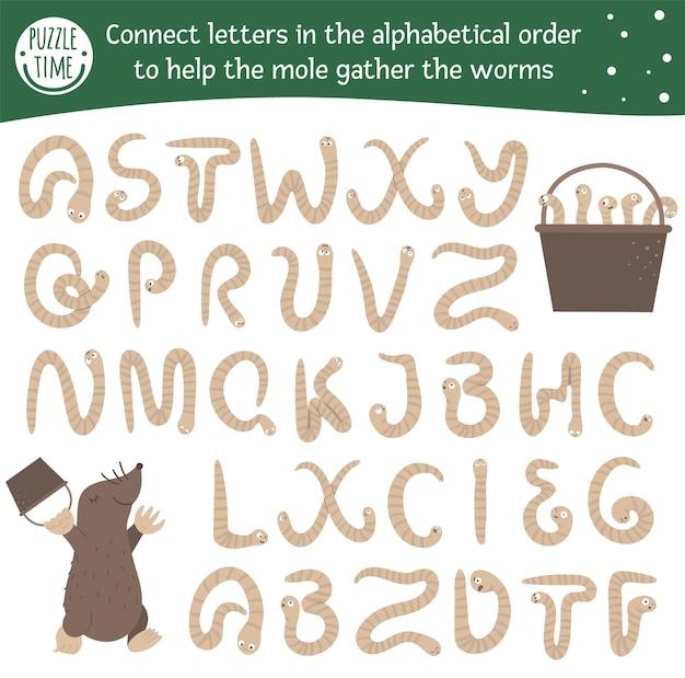 Весенняя азбука с милыми персонажами