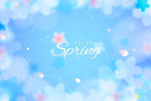 Spring background in blurred style