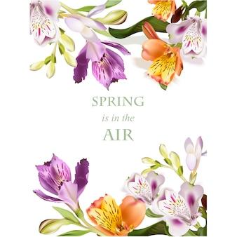 봄 배경 디자인