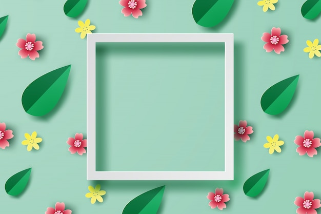 Spring background frame place for text