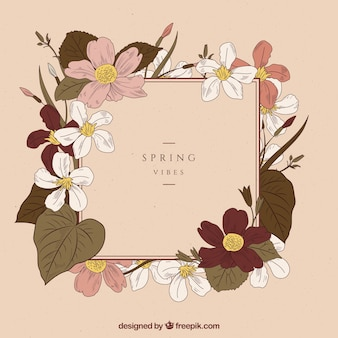 Spring background in vintage style