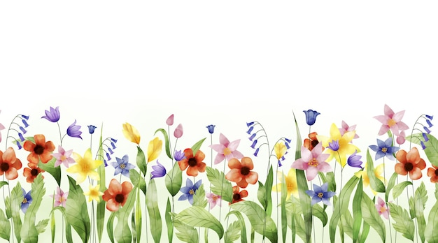 Sfondo di primavera dipinto con acquerello