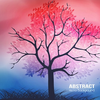 Spring background with abstract style