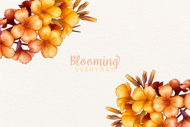 Spring background with beautiful flowers