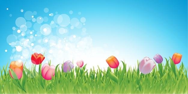 花と春の背景