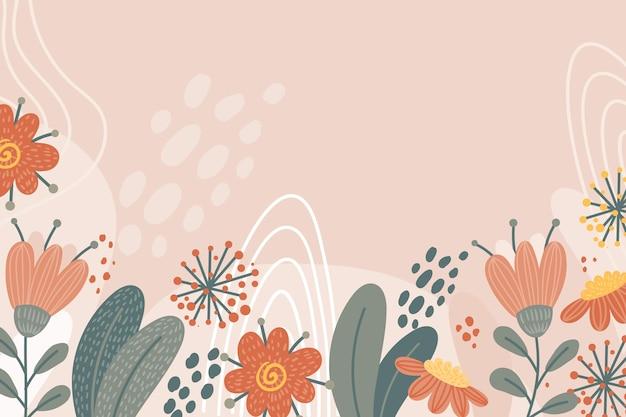 꽃과 함께 봄 배경