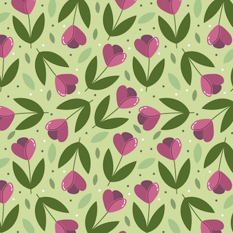 Spring background with tulips pattern