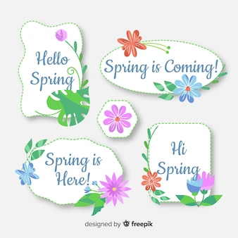 Spring badge collection