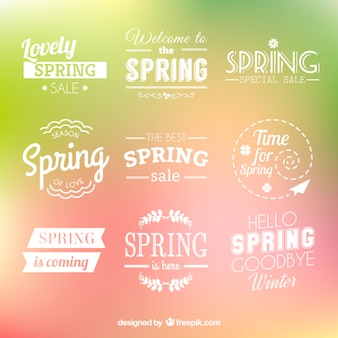 Spring badges collection