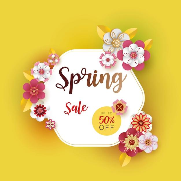 Spring banner sale