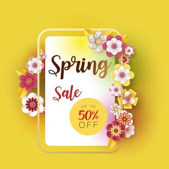 Spring banner sale.