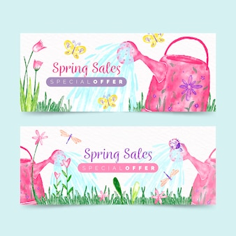 Spring banners with special offer