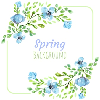Spring blue flowers background