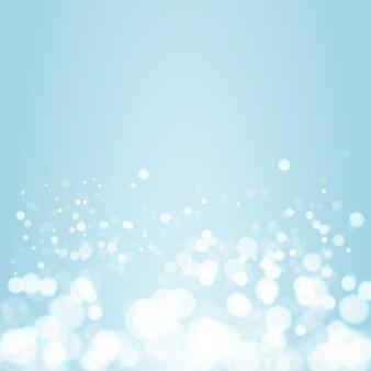 青のグラデーション背景に春ボケバナーデザイン