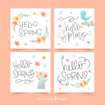 Spring card collection
